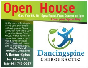 Join us on February 13, 20161  from 12 - 3pm at Dancingspine Chiropractic
